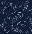 falling leaves indigo pattern seamless vector image