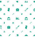 farming icons pattern seamless white background vector image vector image