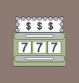 flat icon design collection jackpot machine casino vector image vector image