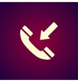 Flat icon of a phone vector image vector image