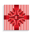 Gift Box with Red Bow and Ribbon vector image vector image