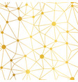 gold white dots network seamless pattern vector image