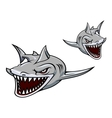 Gray shark mascot vector | Price: 3 Credits (USD $3)