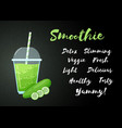 green smoothie cucumber vegetable cocktail banner vector image vector image