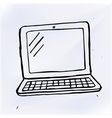 hand draw doodle laptop vector image vector image