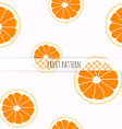 Hand drawn orange Seamless pattern vector image vector image