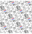 hand drawn seamless pattern with holland culture vector image