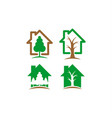 home and tree logo vector image vector image