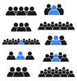 icon collection social group of people vector image
