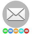 icon with closed letter envelope symbol email vector image