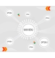 Infographic with white circles on the grey vector image vector image