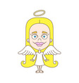 little girl angel vector image vector image
