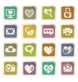 love icon set vector image