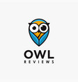 magnifying glass owl logo icon template vector image vector image