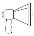 megaphone with handle icon outline style vector image