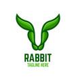 modern rabbit logo vector image