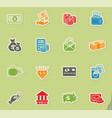 money symbols icon set vector image vector image