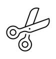 monochrome scissors icon vector image vector image