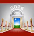 new year door 2014 vector image vector image