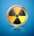 nuclear radiation sign vector image vector image