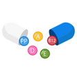 pill capsule with vitamins vector image
