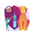 rabies and your pet abstract concept vector image vector image