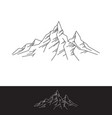 rock mountains simple flat vector image vector image