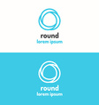 Round abstract geometric logo vector image vector image