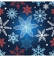 Seamless graphic pattern with snowflakes vector image vector image