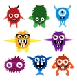 set of cartoon cute monsters and aliens vector image vector image