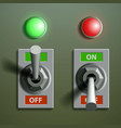 set toggle switches vector image vector image