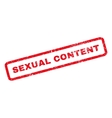 Sexual Content Rubber Stamp vector image vector image