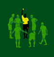 soccer referee yellow red cards design wallpaper vector image vector image