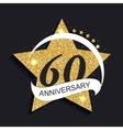 Template Logo 60 Anniversary vector image vector image
