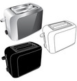 toaster flat icons and 3d model vector image