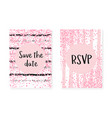wedding set with dots and sequins bridal shower vector image vector image