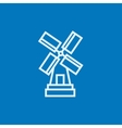 Windmill line icon vector image