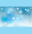 winter falling snow background vector image vector image