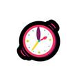 wristwatch flat color vector image vector image