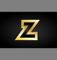 z gold golden letter logo icon design vector image