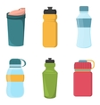 Set of blank bicycle plastic bottles for water vector image