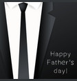 happy fathers day background - suit with necktie vector image