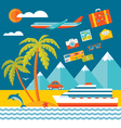 Travel - flat style vector image