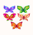 butterflies with the effect of oil paints vector image