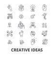 creative ideas innovation solution creativity vector image