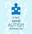 2 april world autism awareness day banner symbol