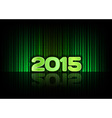 2015 abstract lines green vector image