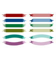 A Set of Beautiful Colorful Empty Banners vector image