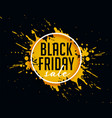 abstract black friday sale with ink splash vector image vector image