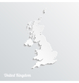 Abstract icon map of United Kingdom vector image vector image